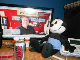 Oswald Listens To My Favorite Deejay Big Jay by swarlock64