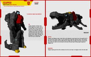 DINOBOT SCUPPER by F-for-feasant-design
