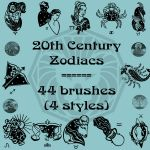 20th Century Zodiacs by rL-Brushes