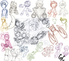 Various Sketches by Gabe27C