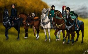 The Army from the Flaming Heath by just-sora