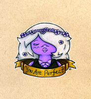 Motivational Gems: Amethyst | Colored Pencil by MaddogsArt