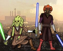 Plo Koon and Kit Fisto by DCall220