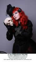The Lady and the Skull Stock 001 by MADmoiselleMeliStock