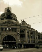 more flinders st station by i-pop