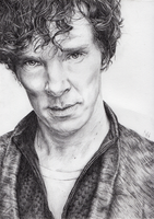 Benedict Cumberbatch as Sherlock by IlseVerbeek