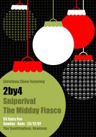 2by4 Christmas Show flyer by my-name-is-annie