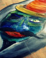 Painting the table: lower viewing angle. by Pedobearq