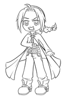 Ed Chibi Line Art :3 by purplegoldfish14