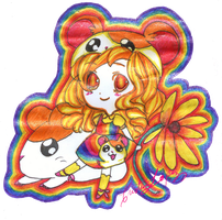 Hamtaro Fangirl Commission by helplessdancer