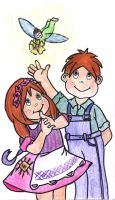 Little Ronnie and Ginny by isnani