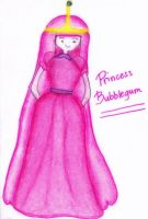 *Princess Bubblegum - Adventure Time (colored) by AniMusision