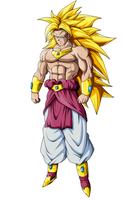 Brolly SSJ3 Color by Gothax