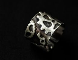 Ring wide silver sterling by honeypunk