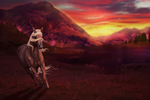 There's a Fire in the Sky .:comp entry:. by Shattered-Roses