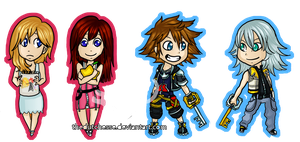 Kingdom Hearts Keychains by TheDutchesse