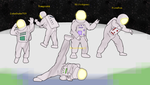 Scary, Spooky Spacemen by FireFoxOmicron