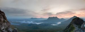 Stac Pollaidh Panoramic Sunrise by Rentapest