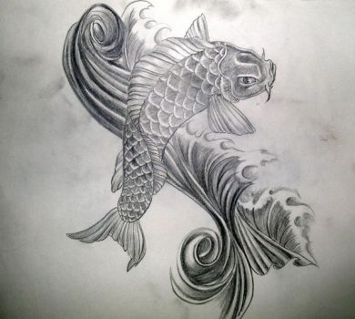 Koi Tattoo by dvampyrelestat