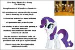 Free Pony Plush for Charity Give Away by WhiteDove-Creations