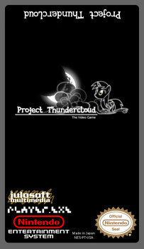 Project Thundercloud: The Video Game NES label by juju2143
