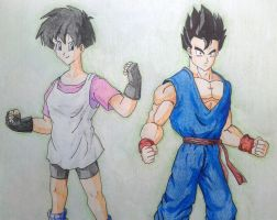 Videl and Gohan by RanCh000
