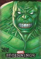 HULK_marvel beginnings sketch card by JASONS21