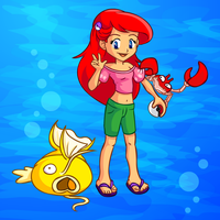 Pokemon Trainer Princess Ariel by jessijoke