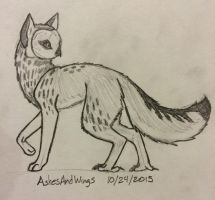 Short-eared/grey fox OwlFox  by AshesAndWings