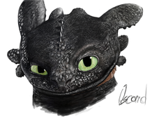 Speed painting - Toothless HTTYD by qscardART