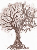 steampunk tree by Silverleopard