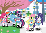 Animu high school pony girls by Shutterflye