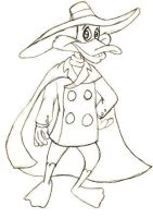 Darkwing Duck Sketch by jade-beaver