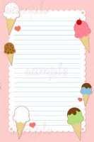 Kawaii Ice Cream Memo Sheet by hellohappycrafts