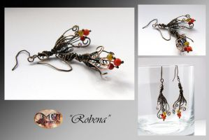 Robena- wire wrapped earrings by mea00