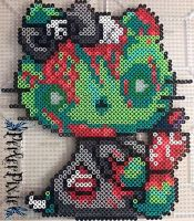 Zombie Hello Kitty by PerlerPixie