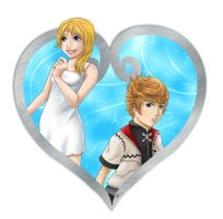Namine and Roxas by NeuroticCrow