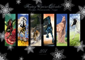 Win 2014 Fantasy Equine Calendar from me! by Lynx-Catgirl