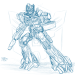 Optimus Prime sketch by Matt-Flame