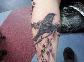 tui tattoo by DesignTheSkinYourIn