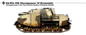 Sturmpanzer IV Brummbar by nicksikh