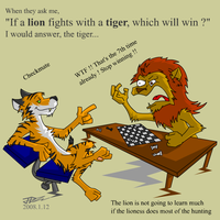 Lion vs Tiger by kyvndudeguy