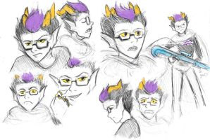 HS - Eridan expression sketches by Shouchinosuke