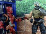 Deadpool and Cable with the TARDIS by GhostLord89