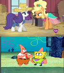 Spogebob and My Little Pony Comparison by brandonale