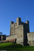 Rochester castle by Moonwolflove