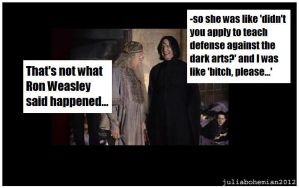 Snape Exaggerates a Bit by Juliabohemian