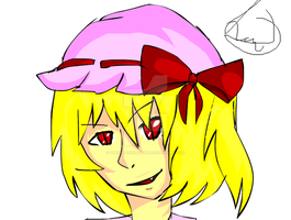Flandre Scarlet drawn in Flash by YunoBlackHazama