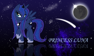 Wet Princess Luna wallpaper by zibags