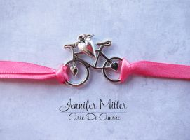 Bicycle Bracelet or Anklet Ribbon by ArteDiAmore